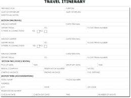 Examples Of An Itinerary Example Travel Itinerary Template Viralpole Info