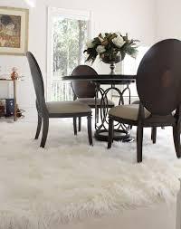 natural white mongolian sheepskin large fur rug