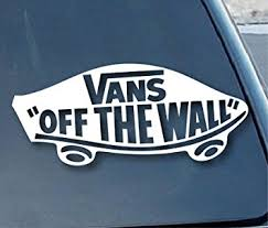 vans off the wall. vans off the wall car window vinyl decal sticker 7\u0026quot; wide (color: white d