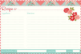 15 Free Recipe Cards Printables Templates And Binder Inserts