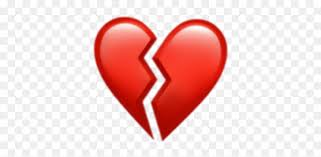broken heart ios emoji hd png