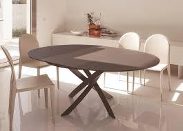 superb round extendable dining table bontempi barone extending go modern furniture 60 42 black