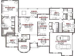 House Plans:4 Bedroom House Plans With 3 Car Garage 4 Bedroom House Plans  Pdf