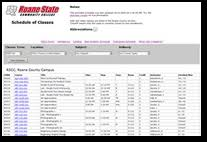 College Class Scheduler Schedule Of Classes Rscc Roane State Community College