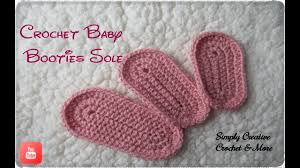 Crochet Baby Bootie Sole Size From 0 1 Year