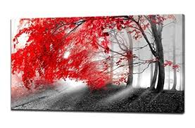 pictures to hang in office. Wall Art Decor Red Tree Canvas Print Paintings For And Home Office Gifts Artwork Ready To Hang Pictures In