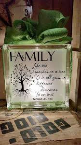 awesome glass block craft idea family home decor lighted by new way sign picture christma light
