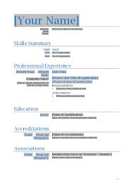 Sample Resume Templates Word Sarahepps Com