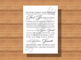 Wedding Day Thank You Note For Wedding Guests Thank You Note