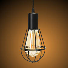 retro industrial vintage metal cage hanging ceiling pendant light holder lamp 11street malaysia decorative ceiling wall light