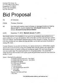 Bid Proposal Sample bid proposal samples Cityesporaco 1