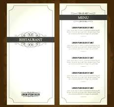 Free Restaurant Menu Table Tent Card Template By Free