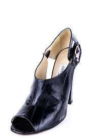 Footwear Designer Jimmy Jimmy Choo Black Leather Peep Toe Pumps Size Us 10 Eu 40
