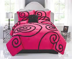 Hot Pink & Black Elegant Teen Girl Bedding Chic Ruffles $144.99 ... & Hot Pink & Black Elegant Teen Girl Bedding Chic Ruffles $144.99 Full/Queen  Set Adamdwight.com