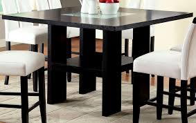 luminar ii fog glass counter height pedestal table from furniture image on fabulous triangular glass top counter height dining table rectangular square