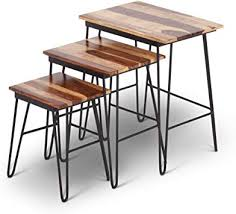 Amazon.com: Steve Silver Tristan <b>3</b> Piece <b>Nesting Table Set</b> in ...
