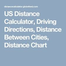 Distance Chart Us Us Distance Calculator Driving Directions Distance Between