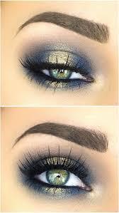 blues of the sea eye makeup look list of makeup s makeup hacks blue and gold eyeshadow y eye makeup eye makeup ideas eye makeup tutorial