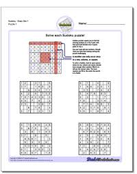 sudoku sudoku worksheet