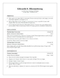 Traditional Resume Template Gorgeous Traditional Resume Templates Chronological Resume Template