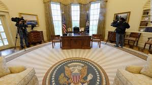 white house oval office. Members Of The Media Shoot Video Inside A Recreated White House Oval Office During Tour M