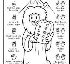 10 Commandments Coloring Pages Ten Commandments Coloring Pages