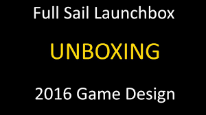 Full Sail Launch Box Graphic Design Full Sail Launchbox Unboxing Game Design 2016