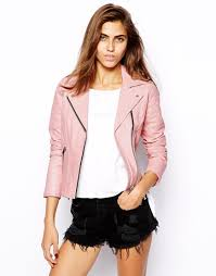 river island pink leather jacket