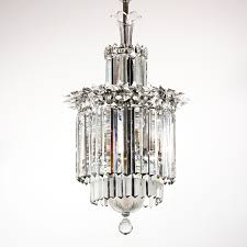 spectacular antique three tier crystal chandelier with spears early 1900s nc1332 rw for