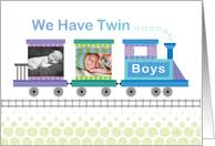 twin birth announcements photo cards photo birth announcement cards from greeting card universe