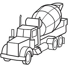 Small Picture Cement Truck Coloring Page Coloring Book