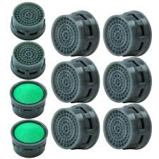 Elcoho 10 Pieces Faucet Aerator Faucet Flow Restrictor Replacement Parts Insert Aerator For Bathroom Or Kitchen 10