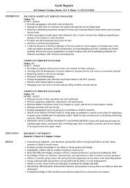 Computer Services Manager Sample Resume Assistant Service Manager Resume Samples Velvet Jobs 1