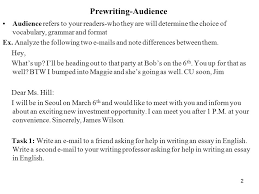 prewriting topic topics that are narrowed down will be more  2 prewriting audience