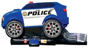 Police Car Bounce House Combo | JumpGuy.com Chicago IL