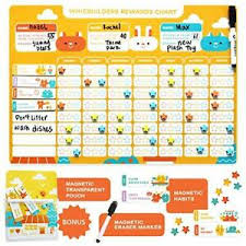 Chore Chart Incentives Details About Chore Chart For Kids Magnetic Reward Calendar Board Dry Erase Schedule
