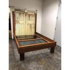 Custom Queen Size Reclaimed Wood Bed For Sale at 1stdibs