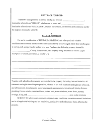 Free Printable Contract For Deed Free Contract For Deed Template Best Business Template 1