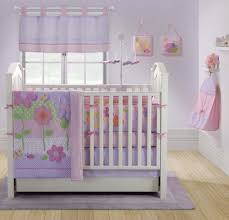Bedroom:Pinky Baby Room With Simple Cradler On Wooden Flooring With  Colorful Rug Purple Baby