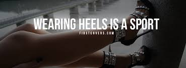 wearing heels is a sport cover