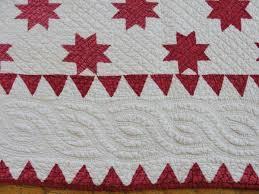 VintageBlessings: Antique Red White Stars QUILT Mid to Late 19th ... & Antique Red White Stars QUILT Mid to Late 19th Century from  vintageblessings on Ruby Lane Adamdwight.com