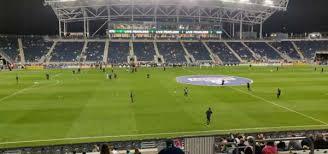 Talen Energy Stadium Section 129 Home Of Philadelphia Union