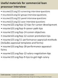 15 useful materials for commercial loan processor sample resume for loan processor