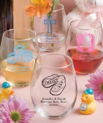 15 Ounce Stemless Wine Glasses Gift Boxes Available  Baby ShowerBaby Shower Personalized Gifts
