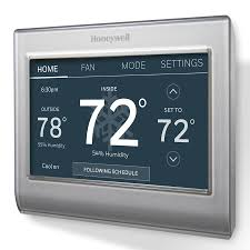 Honeywell Silver Wi-Fi Smart Color Thermostat with Built-In WiFi at ...