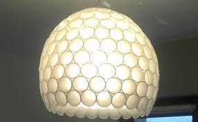 plastic bottle chandelier
