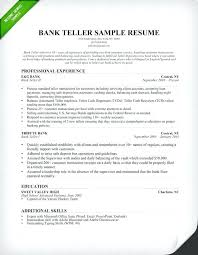 Bank Teller Resume Template Inspiration Resume Template Bank Teller For Position Sample Of This Is No
