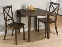 rectangular drop leaf kitchen table with high legs and 2 chairs also small