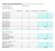 P And L Statement Template Delectable Profit And Loss Spreadsheet Free Beautiful P L Statement Excel In E
