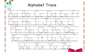 Alphabet Tracing Worksheets Az Full Size Of Alphabet Writing ...